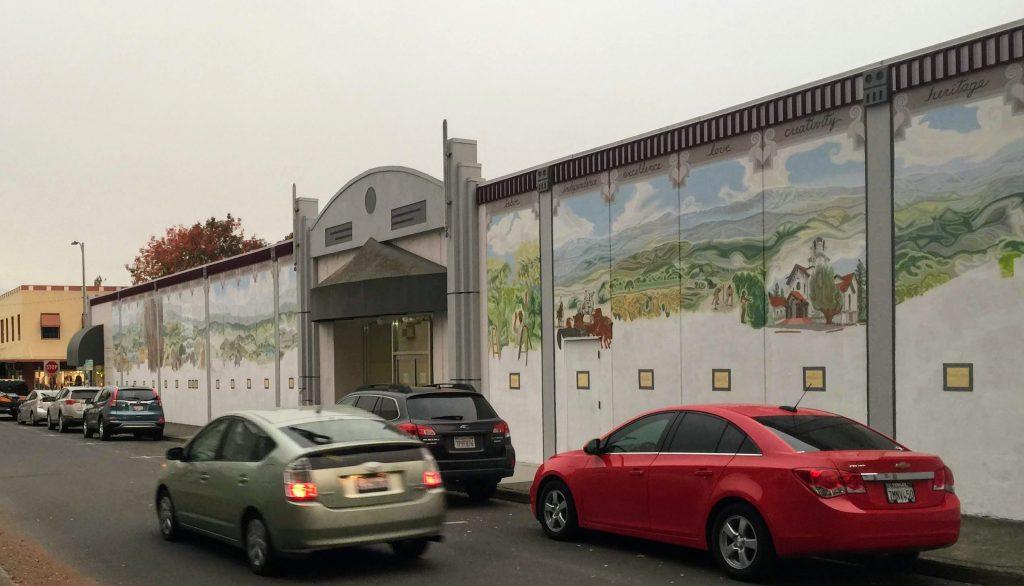 The mural as I left it last winter.